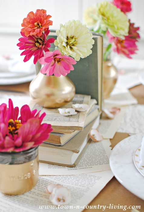 Book Page Table Runner for a Book Lover's Table Setting