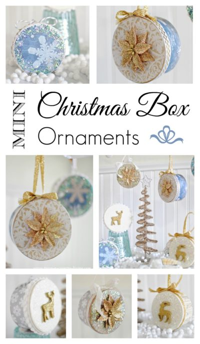 Make Your Own Mini Christmas Box Ornaments