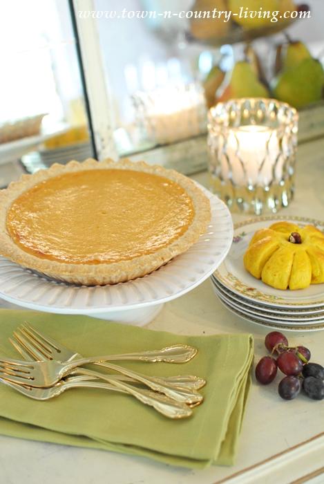 Pumpkin Pie for Thanksgiving Dinner