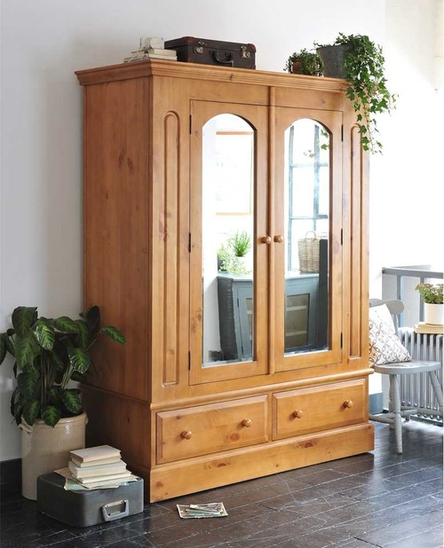 Wood Armoire by The Cotswold Cottage