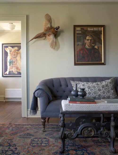 Decorating with French Gray. Farrow & Ball paint on the walls