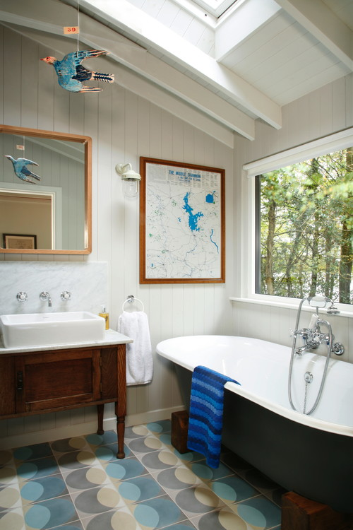 Traditional Bathroom in a Modern Cabin in Ireland