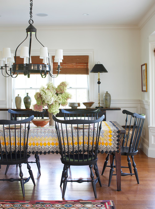 Windsor Chairs in Dining Room