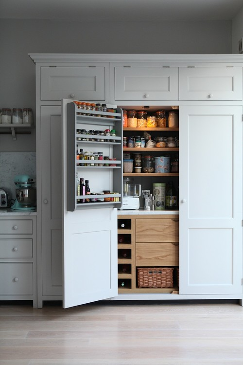 Kitchen Pantry Decorating With French Gray