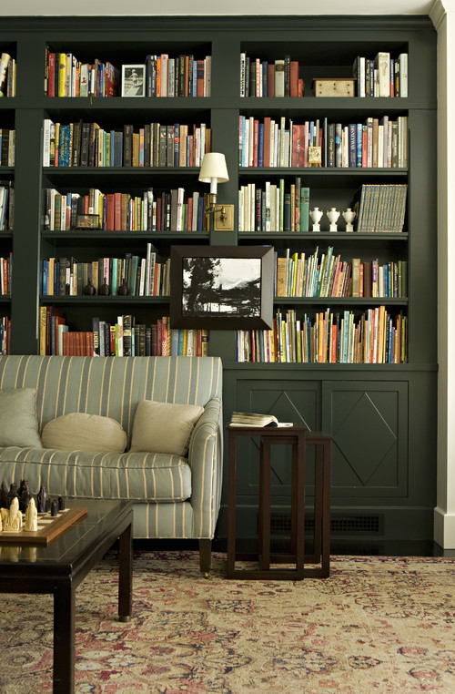 Classic Library in Georgian Home
