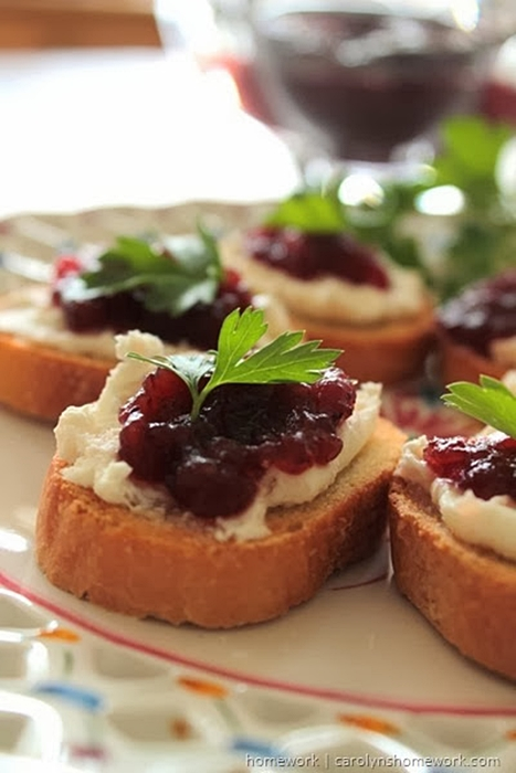 Cranberry Relish Crostini