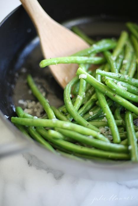 Green Beans in Shallot Butter
