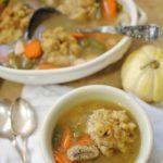 Turkey Stuffing Dumpling Soup