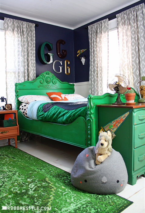 Boys Bedroom with Bold Colors