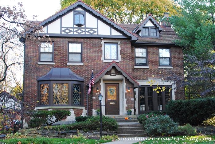 Brick Tudor Home in Illinois