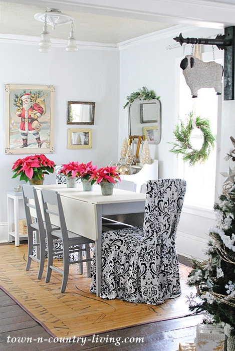 Farmhouse Dining Room in My Christmas Home Tour
