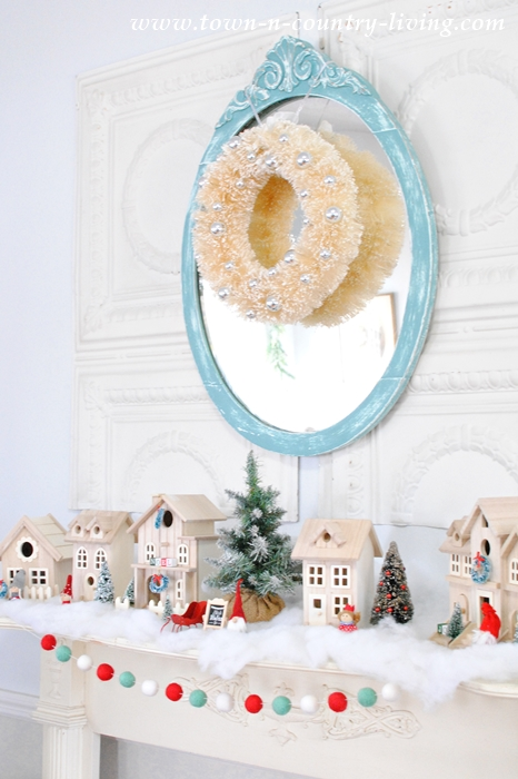 Christmas Mantel - A Nordic Style Snowy Village
