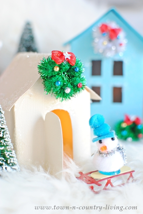 how to create a christmas village