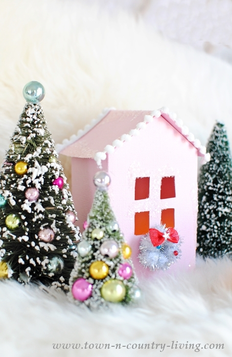 Make miniature paper houses for a fun craft project at Christmas