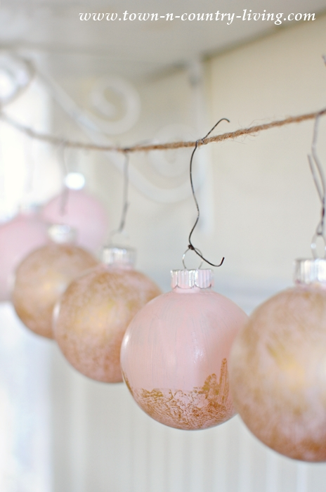 How to Make Pink Champagne Christmas Ornaments