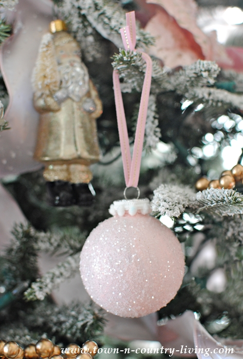 Pink Champagne Christmas Ornaments