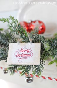 Wooden Christmas Ornaments with Free Printable
