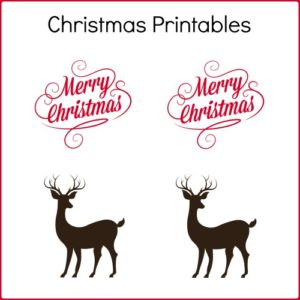 Free Christmas Printables to Make Wooden Ornaments