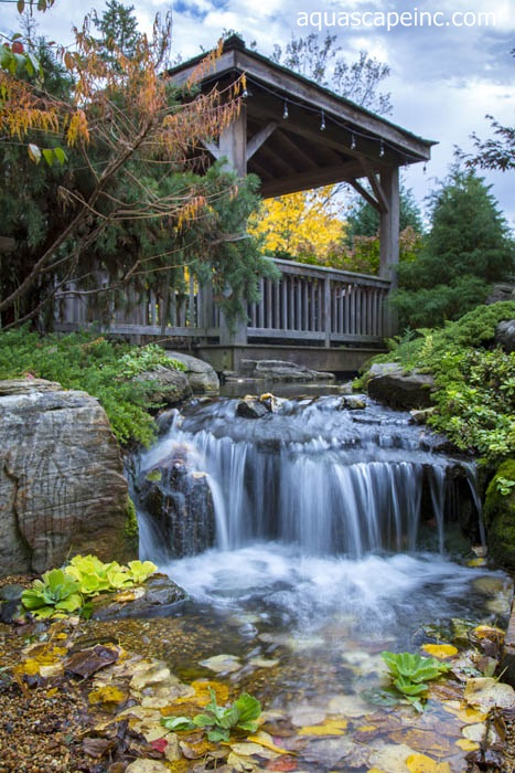Pondless Waterfall in Fall Landscape