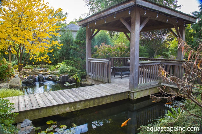 Fall Landscapes - Pond with Floating Gazebo