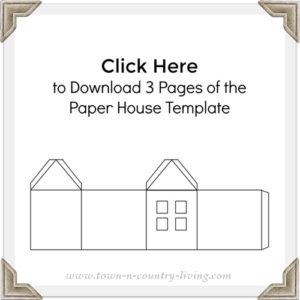 Three pages of paper house templates to download