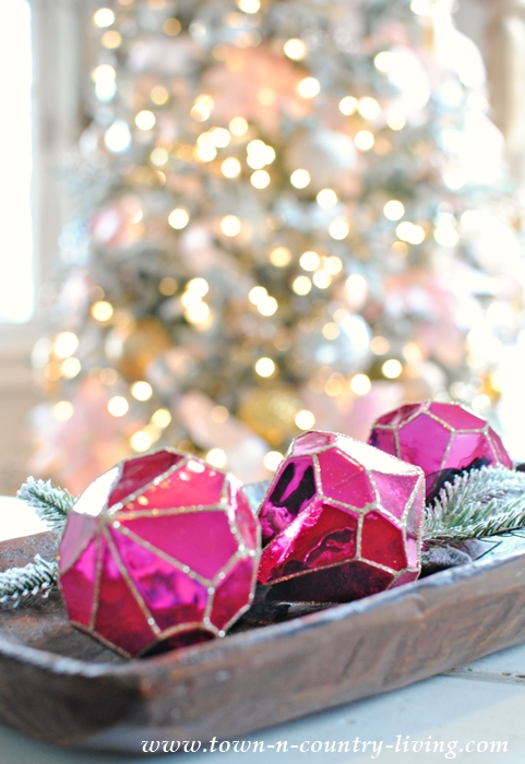 Dark Pink Christmas Ornaments