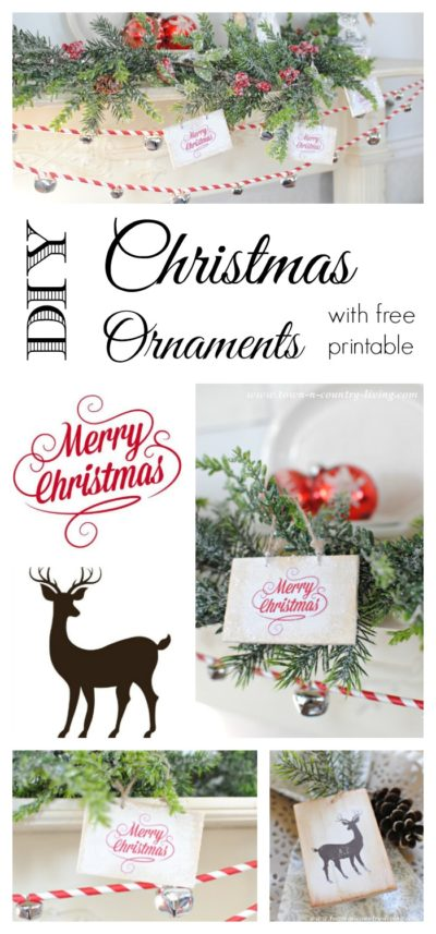 Make these simple and easy ornaments for Christmas using the free printable.