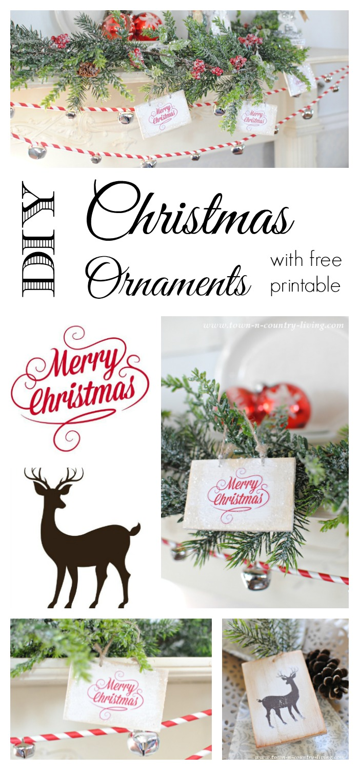wooden christmas ornaments with free printable town u0026 country living