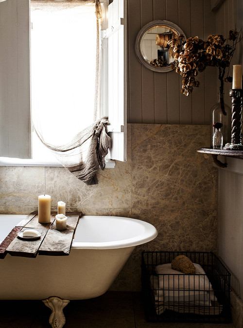 Rustic Neutral Bathroom in Australian House