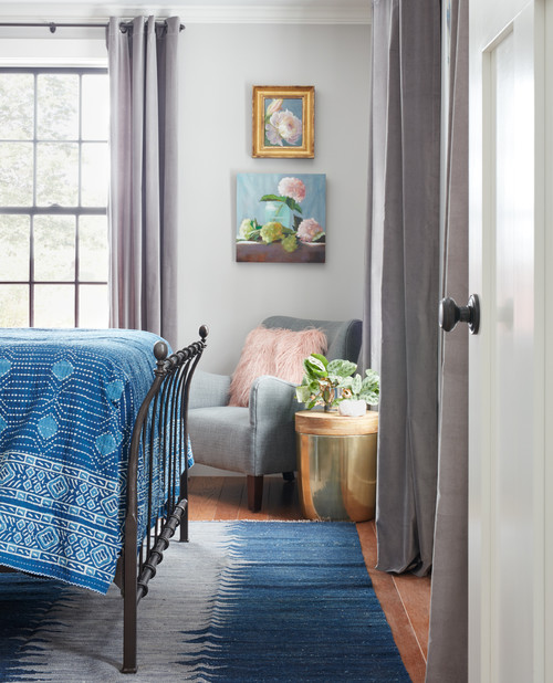 Farmhouse Bedroom in Blue