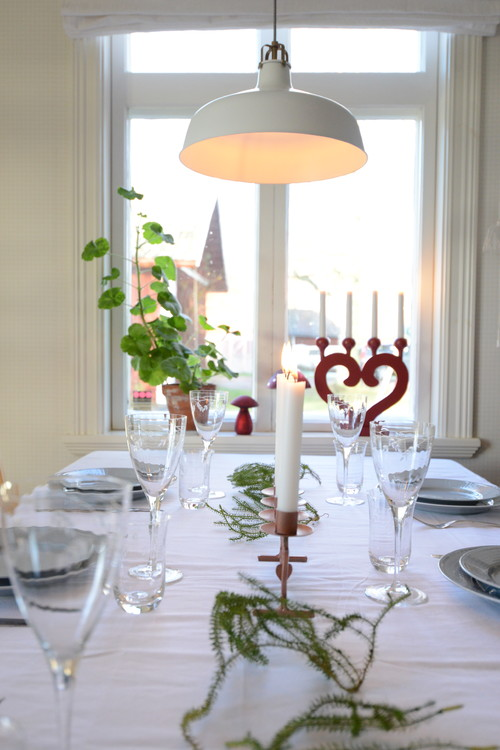 Scandinavian Style Dining Room at Christmas