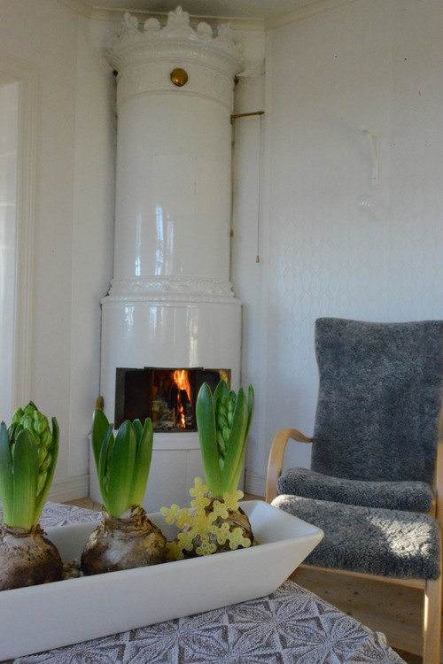 Fireplace in Swedish Country House
