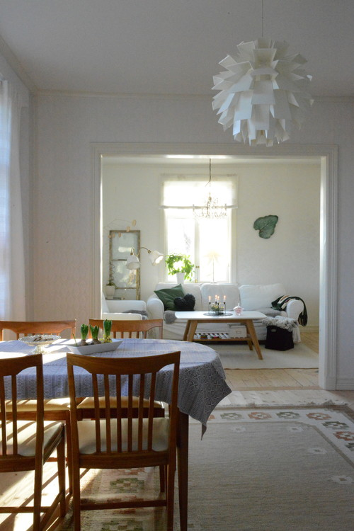 Swedish Country House - Living and Dining Room