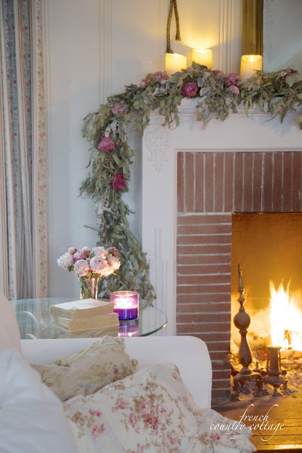 Winter Mantel by French Country Cottage