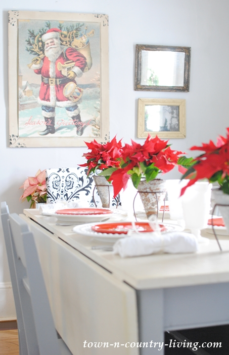 Christmas Brunch Table Setting