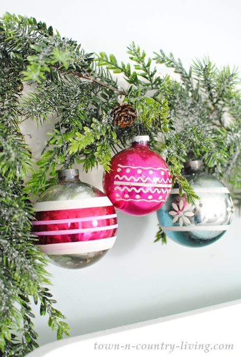 Vintage Merry Bright Christmas Ornaments