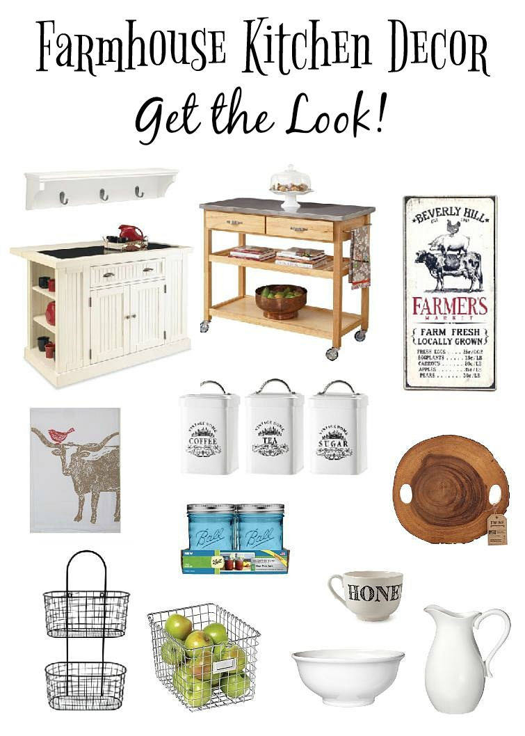 Farmhouse kitchen decor get the look town country living for Kitchen decor items