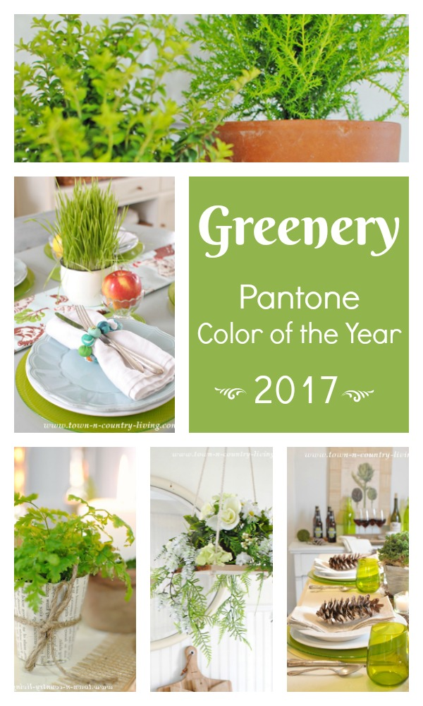 pantone greenery 2017 color of the year town country living. Black Bedroom Furniture Sets. Home Design Ideas