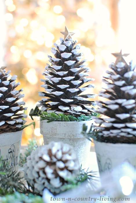 Pine Cone Christmas Tree Craft.Pine Cone Christmas Trees Town Country Living
