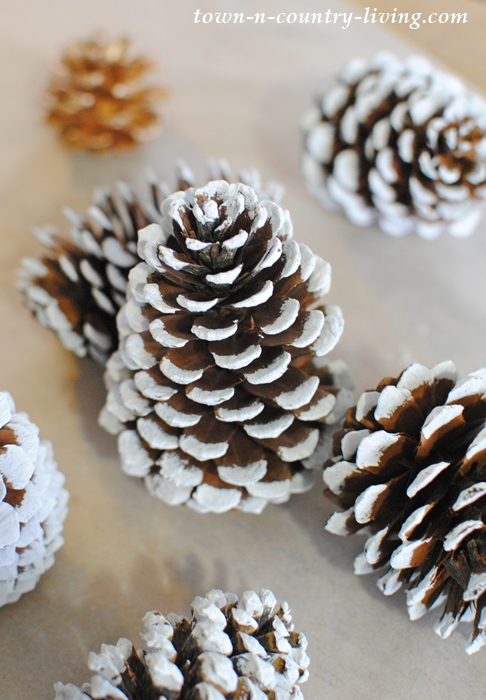 Pine Cone Crafts. Painted Pine Cone Tips