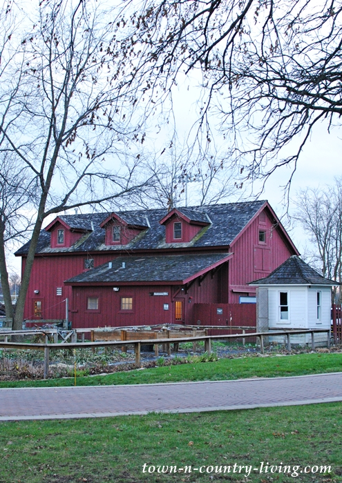 Red Barn at Naper Settlement in Naperville, Illinois