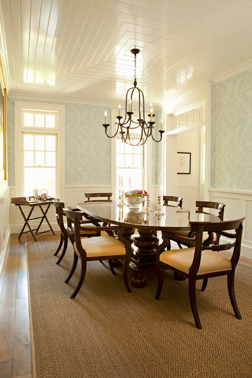 Traditional Dining Room in LEED Gold Home