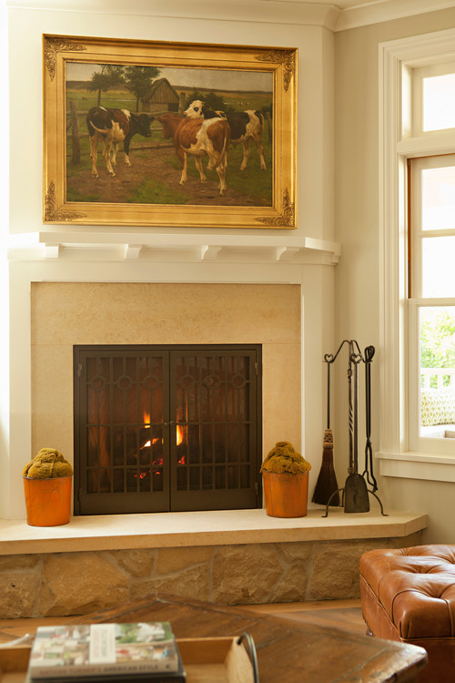 Modern Country Style Fireplace