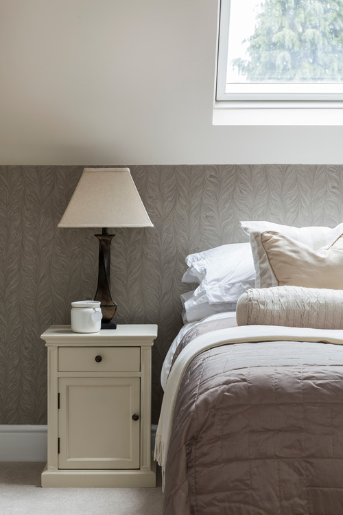Neutral Bedroom in English Countryside Cottage