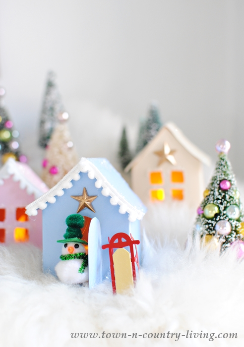 Christmas Village with Free House Templates