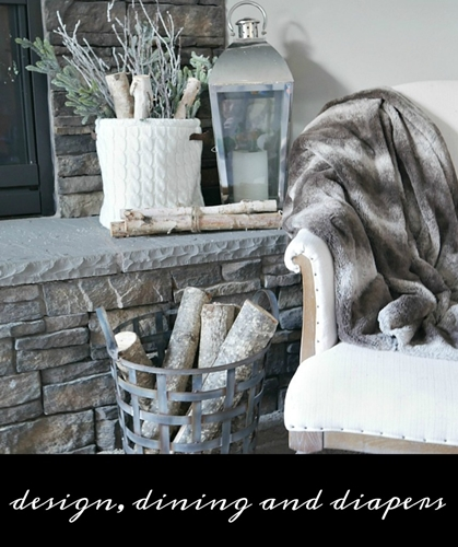 Winter Mantel at Design, Dining and Diapers