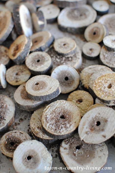 Drilled Wood Slices for an Earthy Garland