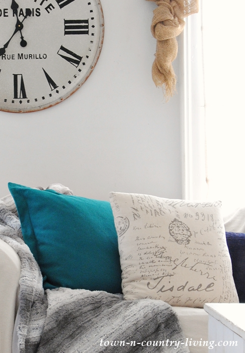 Script Pillows for the Family Room