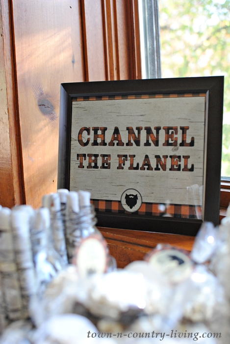 Channel the Flannel Party Sign