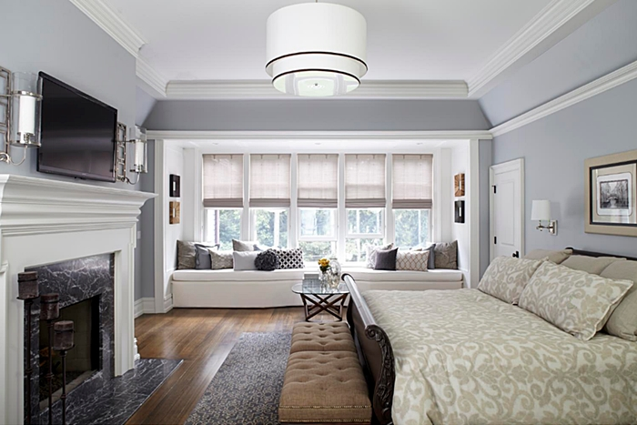 Traditional Style Master Bedroom with Amazing Window Seat